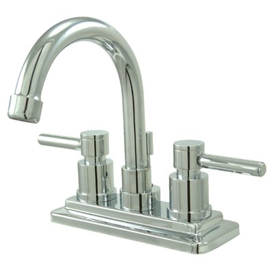 Concord Double Handle Centerset Bathroom Faucet with Brass Pop-Up Drain Product Photo