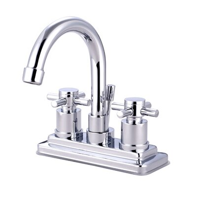 Kingston Brass Concord Double Handle Centerset Bathroom Faucet with Brass Pop-Up Drain