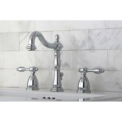 Tudor Double Handle Widespread Bathroom Faucet with ABS Pop-Up Drain Product Photo