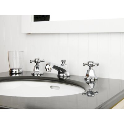 Metropolitan Double Handle Widespread Bathroom Faucet with Pop-Up Drain Product Photo