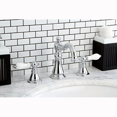 American Patriot Double Handle Widespread Bathroom Faucet with ABS Pop-Up Drain Product Photo