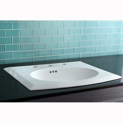 Courtyard China Countertop Bathroom Sink by Kingston Brass