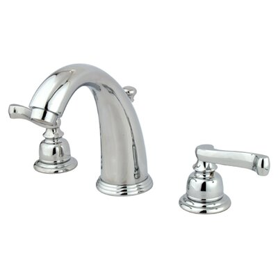 Royale Double Handle Widespread Bathroom Faucet with Brass Pop-Up Drain Product Photo