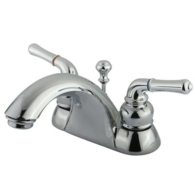 Naples Double Handle Centerset Bathroom Sink Faucet with Matching Pop-Up Drain Product Photo