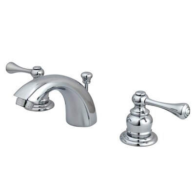 Vintage Double Handle Widespread Bathroom Faucet with ABS Pop-Up Drain Product Photo