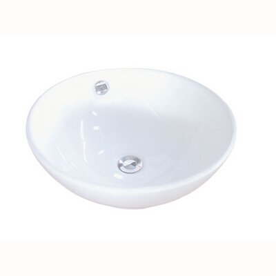 Kingston Brass Perfection China Vessel Bathroom Sink with Overflow Hole