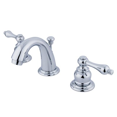 English Country Double Handle Mini Widespread Bathroom Faucet with ABS Pop-Up Drain Product Photo