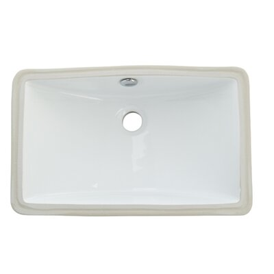 Courtyard China Under Mounted Bathroom Sink Product Photo