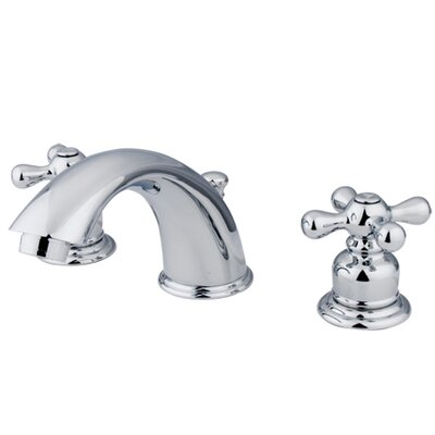 Victorian Double Handle Widespread Bathroom Faucet with Brass Pop-Up Drain Product Photo