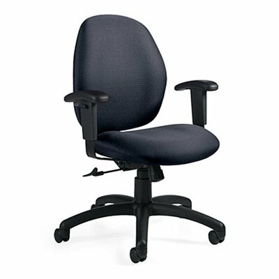 Global Total Office Graham Low-Back Pneumatic Ergo-Tilter Office Chair
