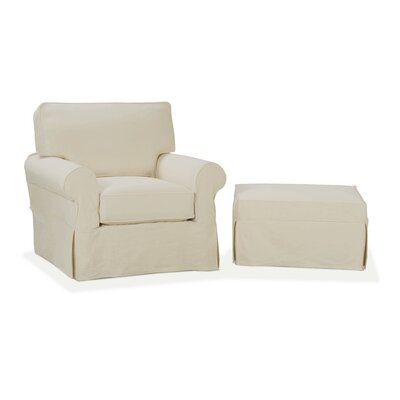 Rowe Furniture Nantucket Slip Cover Suite Arm Chair And