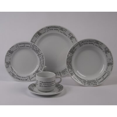 Brasserie Rimmed Bowl 5 Piece Dinnerware Collection by Pillivuyt