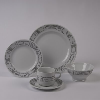 Brasserie 5 Piece Dinnerware Collection by Pillivuyt
