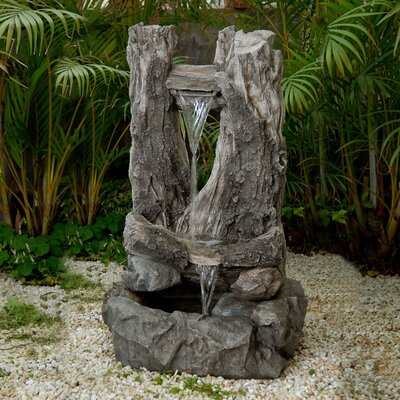 Wood Water Fall Water Fountain by Jeco Inc.
