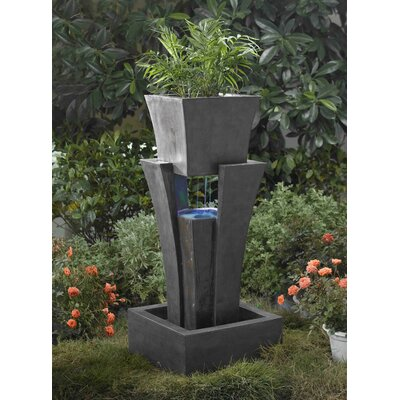 Jeco Inc. Polyresin and Fiberglass Tiered Raining Fountain