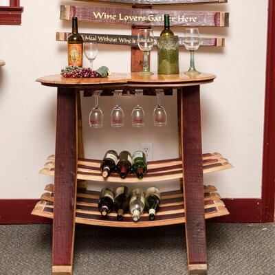 Barrel Head 16 Bottle Tabletop Wine Glass Rack by Napa East Collection