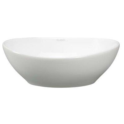 Porcelain Oval Deep Bowl Vessel Sink Product Photo