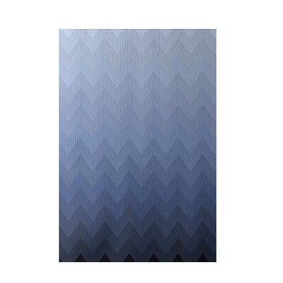 Decorative Chevron Blue Area Rug by e by design