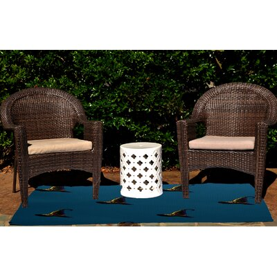 Witches Brew Holiday Print Teal Outdoor Area Rug by e by design