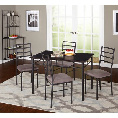 Liv 5 Piece Dining Set with Baker's Rack by TMS