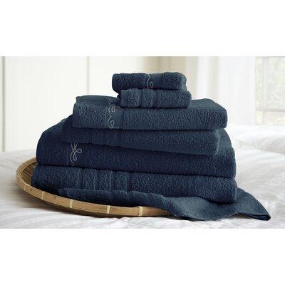 La Boheme Paris Embroidered Egyptian Cotton 6 Piece Towel Set by Amrapur