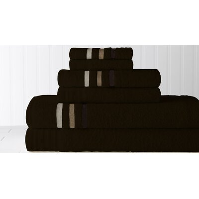 Jewel Tone Ombre Stripe 6 Piece Towel Set by Amrapur
