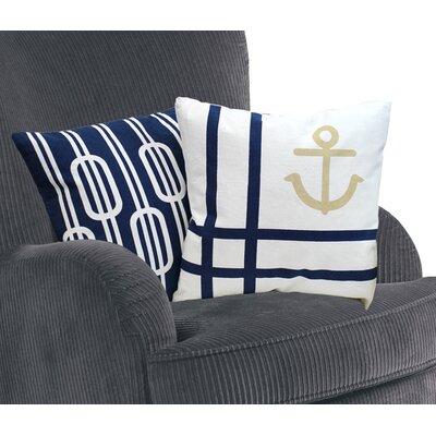 Nautical Cotton Throw Pillows Set 2