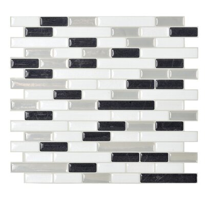 "Mosaik 10.25"" x 9.13"" Mosaic Tile in Black & White Product Photo"
