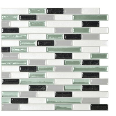 "Mosaik 10.25"" x 9.13"" Mosaic Tile in White & Soft Green Product Photo"