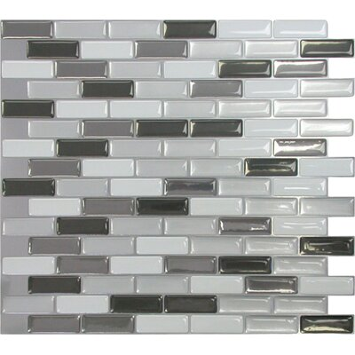 "Mosaik 9.5"" x 11"" Mosaic in Gray & Black Product Photo"