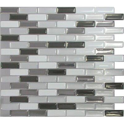 "Mosaik 9.5"" x 11"" Mosaic in Gray & Black Product Photo"