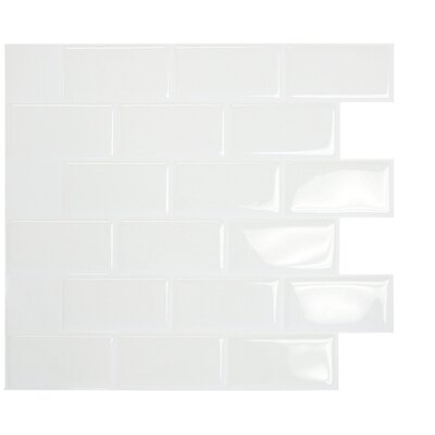 "Mosaik 9.7"" x 10.9"" Mosaic Tile in White Product Photo"