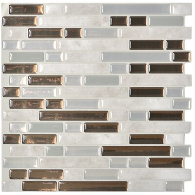 "Mosaik 10.13"" x 10"" Mosaic Tile in Gray & Brown Product Photo"