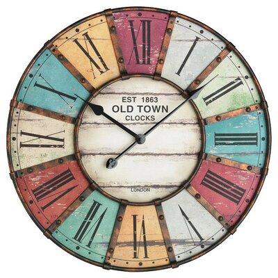 tfa dostmann oversized 60 cm vintage wall clock reviews wayfair uk. Black Bedroom Furniture Sets. Home Design Ideas