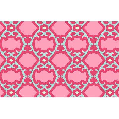 Francie Trellis Pink Geometric Area Rug by Thumbprintz