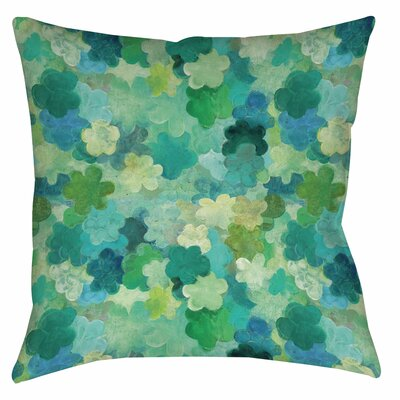 Aqua Bloom Water Blends Printed Throw Pillow by Thumbprintz