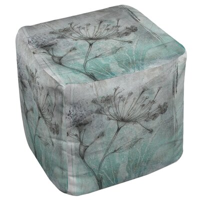 Ombre Wildflowers 1 Ottoman by Thumbprintz