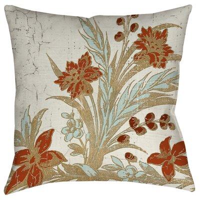 Garden Tile 3 Printed Throw Pillow by Thumbprintz