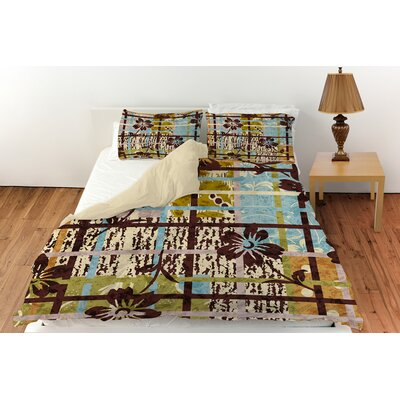 Floral Study in Plaid Duvet Cover Collection by Thumbprintz