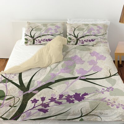 Lavender and Sage Flourish Duvet Cover by Thumbprintz