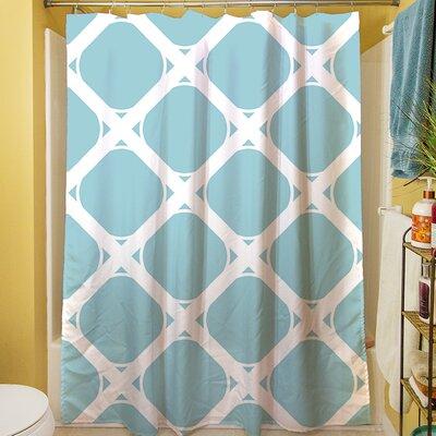 Modern Geometric Robin Egg Shower Curtain by Thumbprintz
