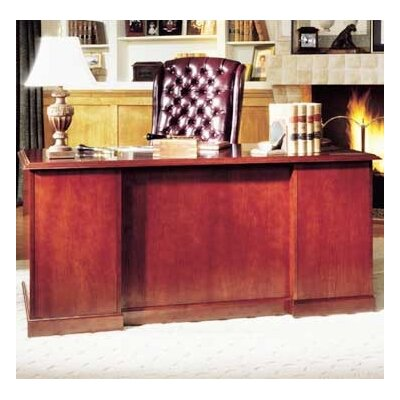 High Point Furniture Legacy Double Pedestal Executive Desk with 2 File Drawers