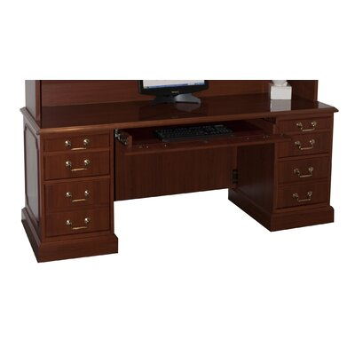 bedford executive desk with 3 right 3 left drawers wayfair