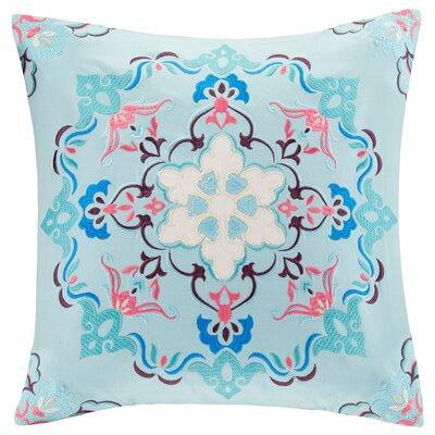 Intelligent Design Medallion Embroidered Cotton Throw Pillow