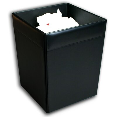 1000 Series Classic Leather Square Waste Basket by Dacasso
