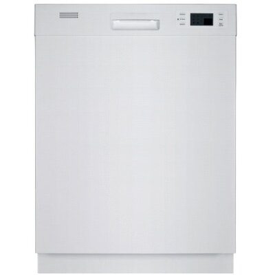 Ful-sized Semi Built-in Dishwasher in White Energy Star Certified Product Photo