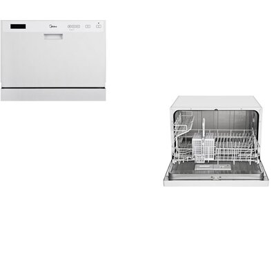 "Midea 21.7"" 53dBA  Dishwasher in White Product Photo"