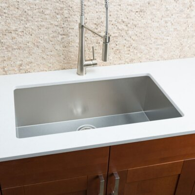 """Chef Series 32"""" x 19"""" Single Bowl Kitchen Sink Product Photo"""