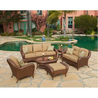 Soria 6 Piece Deep Seating Group with Cushions by Art Frame Direct