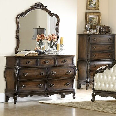 Woodbridge Home Designs Bayard Park 7 Drawer Dresser With Mirror Reviews Wayfair